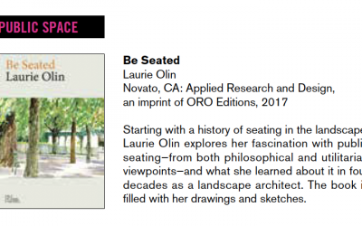 Be Seated is featured in Public Art Review